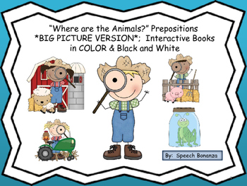 """Where are the Animals?"" BIG Pictures; Interactive books i"