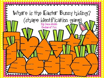 """""""Where is the Easter Bunny hiding?"""" (shape identification game)"""