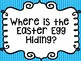 """""""Where is the Easter egg hiding?""""  (color identification game)"""