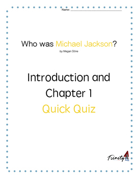 """""""Who was Michael Jackson"""" Chapter 1 Quick Quiz"""