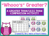 """""""Whooo's Greater?"""": A Greater Than/Less Than Comparing Num"""