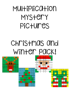 *Winter Pack* Multiplication Mystery Pictures