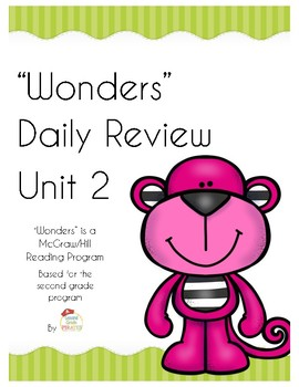 """Wonders"" Mcgraw-Hill Unit 2 Morning Work"