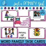 ~*Word Family Task Cards - ED