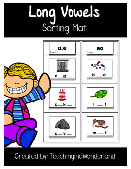 {Word Work} Long Vowel Sorting Mat Activity Packet