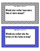 """""""Would You Rather"""" Task Cards"""