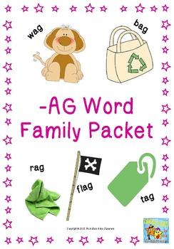 -ag Word Family Packet