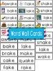 -ake Word Family Flipbook, Word Wall Cards and Data Tracki