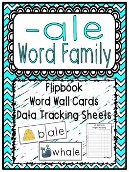 -ale Word Family Flipbook, Word Wall Cards and Data Tracki