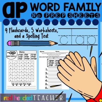 -ap Word Family Worksheets