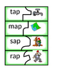 -ap and -at Word Family Puzzles