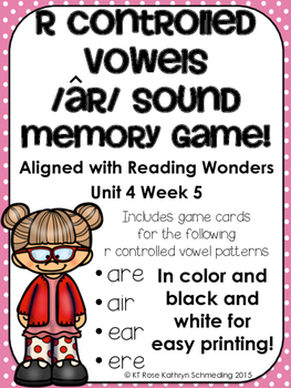 /ar/ Sound Memory Game---Aligned with Reading Wonders Unit