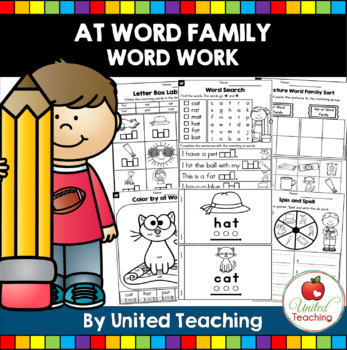 -at CVC Word Family Word Work