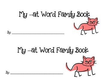 -at word family stamp and write booklet