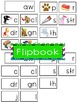 -aw Word Family Flipbook, Word Wall Cards and Data Trackin