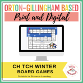 ch or tch Winter Board Game, Sort, and 2 Rule Posters (Ort