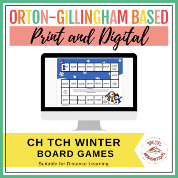 -ch/-tch Board Game, Sort, and 2 Rule Posters (Winter Themed)