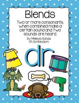 -dr Blend Anchor Chart & Practice {Click File, Print}