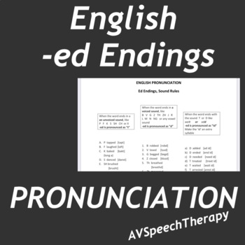-ed Endings (How to pronounce them)