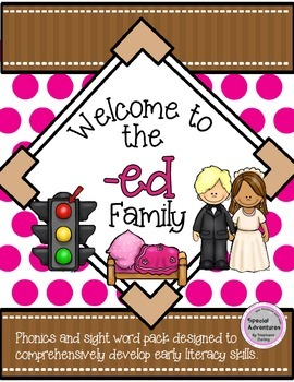 -ed WORD FAMILY PHONICS AND SIGHT WORD WORK EARLY LITERACY