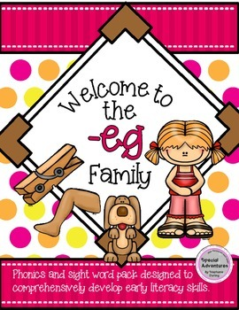 -eg WORD FAMILY PHONICS AND SIGHT WORD WORK EARLY LITERACY