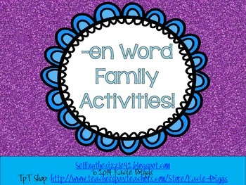 -en Word Family Activities!