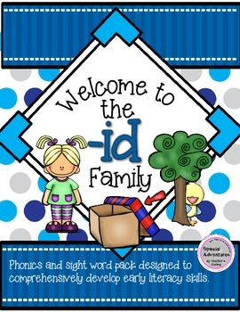 -id WORD FAMILY PHONICS AND SIGHT WORD WORK EARLY LITERACY