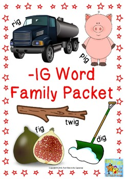 -ig Word Family Packet