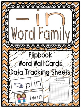 -in Word Family Flipbook, Word Wall Cards and Data Trackin