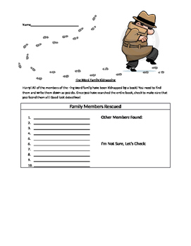 -ing Word Family Recognition Activity
