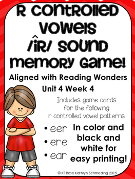 /ir/ Sound Memory Game---Aligned with Reading Wonders Unit