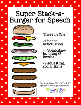 Super Stack-a-Burger Speech and Language Open Ended Game
