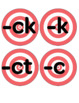 ck, k, ct, and ic for /k/ OG sound spelling game (includes