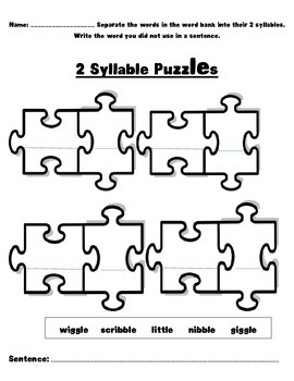 -le syllable puzzles