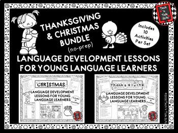Thanksgiving / Christmas Bundle of Language Lessons for Yo