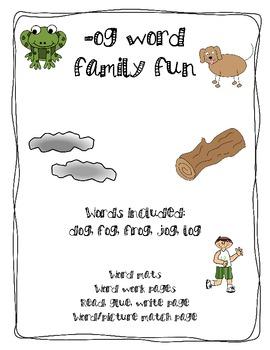 -og word family fun