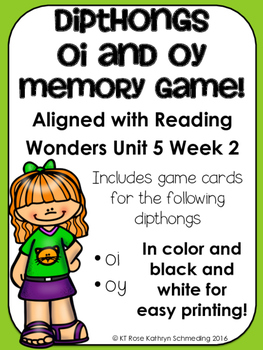 /oi/ Sound Memory Game---Aligned with Reading Wonders Unit