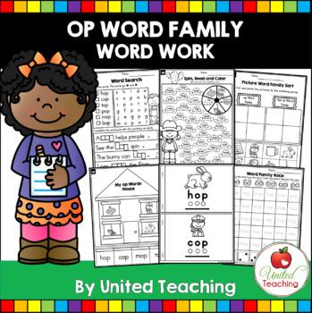 -op CVC Word Family Word Work