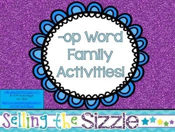 -op Word Family Activities!