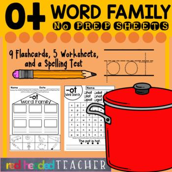 -ot Word Family Worksheets