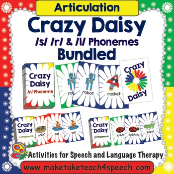 /r/ /s/ and /l/ Phonemes - Crazy Daisy Card Game Bundled