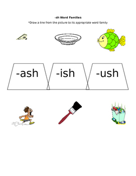 -sh Word Family Practice