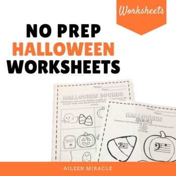 No Prep Halloween Music Worksheets