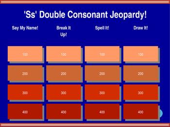 'ss' Double Consonant Jeopardy!