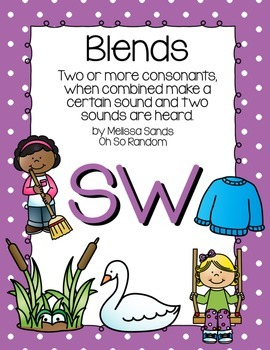 -sw Blend Anchor Chart & Practice {Click File, Print}