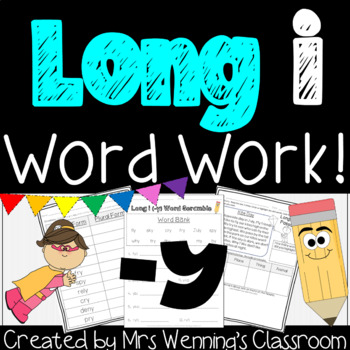Long i (-y) - A week of Lesson Plans, Activities, and Word Work!