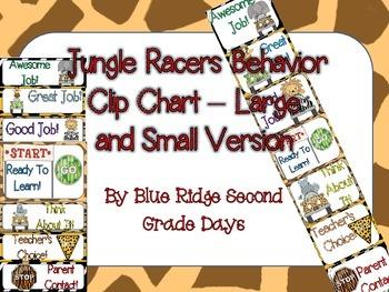 Jungle Racers Behavior Clip Chart -2 Different Versions (L