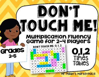0,1,2 Times Tables: Don't Touch Me! Multiplication Fact Fl