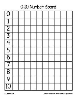 0-10 Number Board