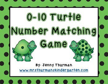 0-10 Turtle Number Matching Game